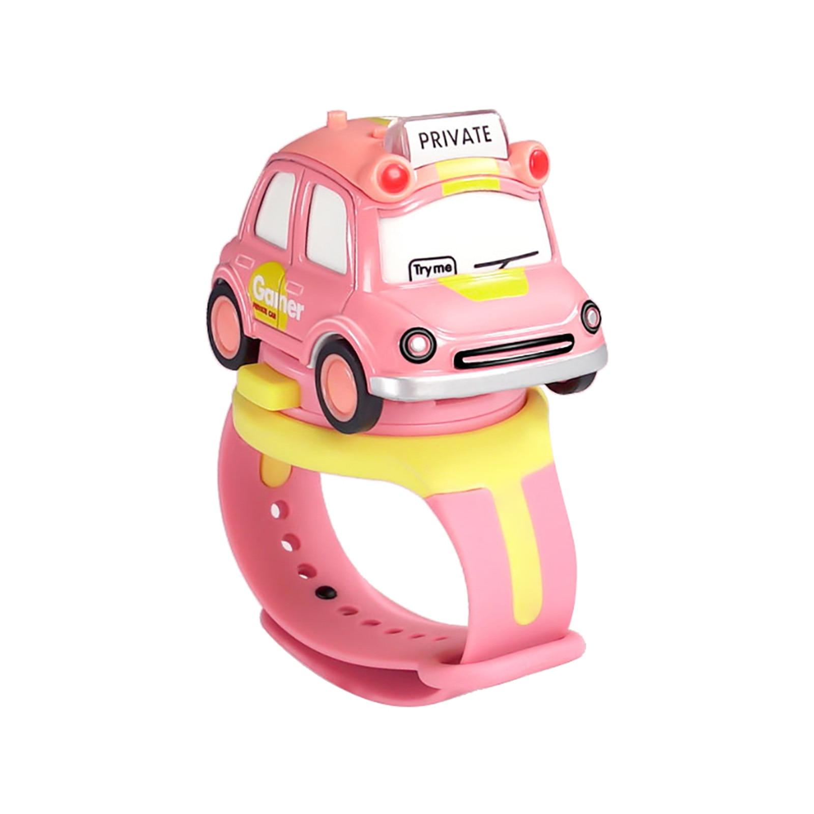 Alloy Toy Car Mini Q Version Car Bus Children Watch Interactive Induction