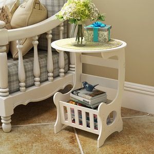 Simple small table sofa side mini square table living room simple tea table bedside storage cabinet bedroom bedside table