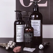 Bouteille rechargeable marron de bain de Style nordique   250/500ml, bouteille de douche, Gel de shampooing, bouteille de douche, Gel de douche, rechargeable
