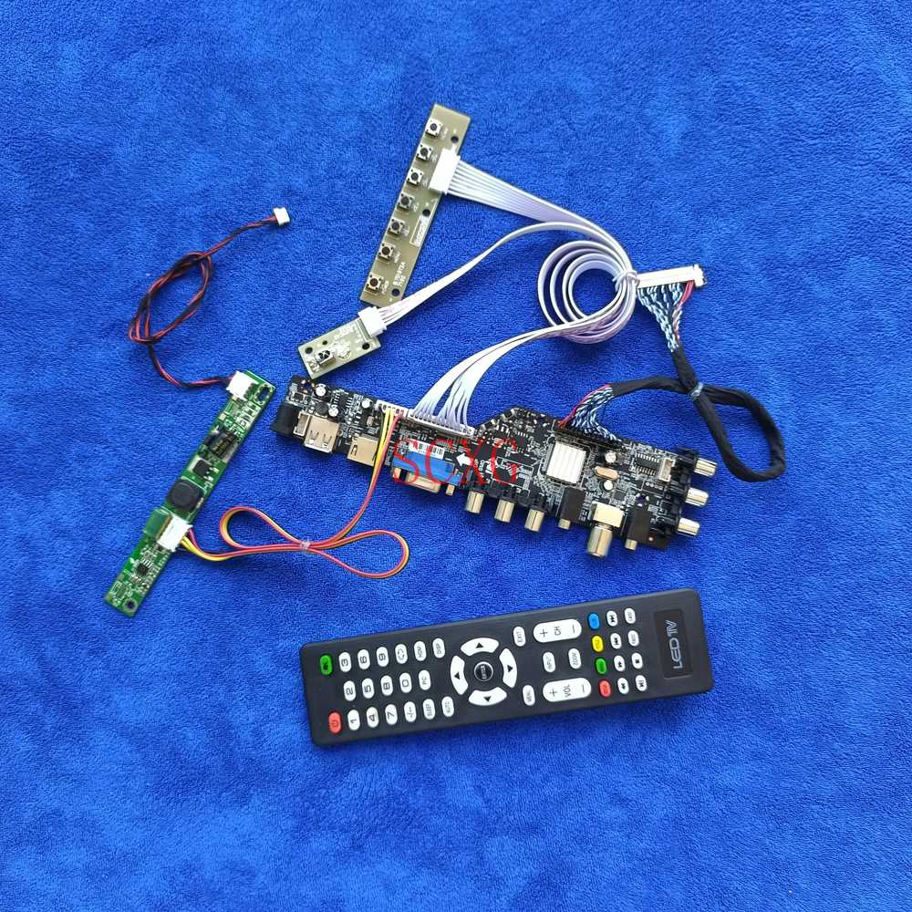 ل CLAA215FA04/CLAA215FA04T LED/LCD LVDS 30 دبوس لتقوم بها بنفسك عدة شاشة محرك مجلس USB AV VGA HDMI-متوافق مع إشارة رقمية 1920*1080