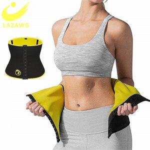 LAZAWG Fajas Waist Trainer Corset Women Weight Loss Compression Workout Fitness Trimmer Sweat Belts Neoprene Sauna Slimming Band