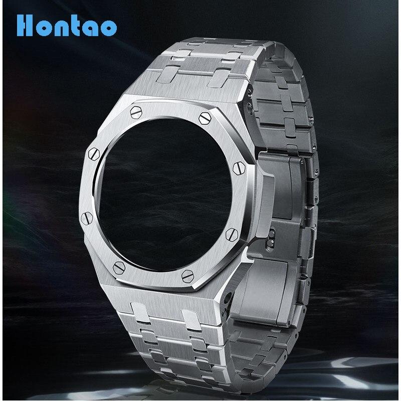 Hontao GA2100 3rd Generation Casioak Mod All Metal Watch Bezel Strap GA2110 Watch Band for GA2100/2110 Replacement Accessories