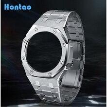 Hontao GA2100 3th Generation All Metal Watch Bezel Strap GA2110 Watch Band for GA2100/2110 Replaceme