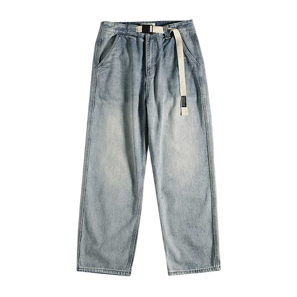 New Fashion Straight Jeans Men Casual Denim Pants Loose Baggy Trousers Japan Style Streetwear Jeans Male Clothing