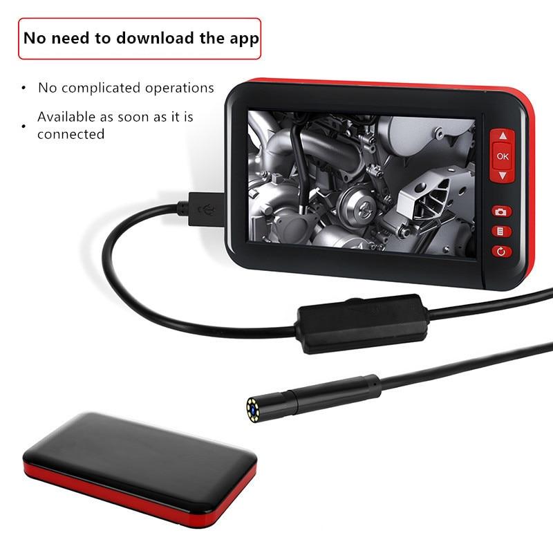 4,3 дюймов HD1080P 8 мм Экран осмотр камера-эндоскоп бороскоп HD TFT IPS камера автомобильный монитор эндоскопа для автомобилей эндоскоп