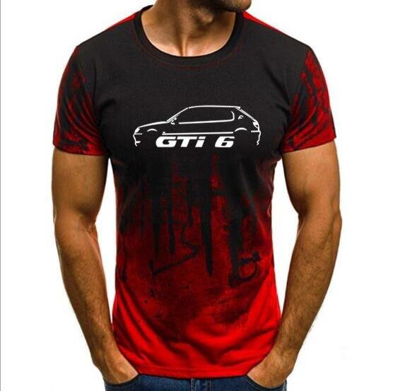 Men's T shirts Print T-shirt Summer  PEUGEOT 306 GTI 6 INSPIRED CAR T-SHIRT  Camouflage Short Sleeve tshirt