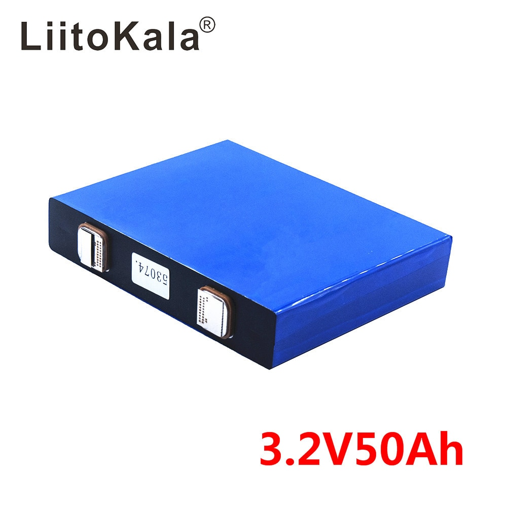 LiitoKala-خلايا lifepo4 3.2v ، 50ah ، 3.2v ، للدراجات الكهربائية ، حزمة بطارية ، نظام الطاقة الشمسية