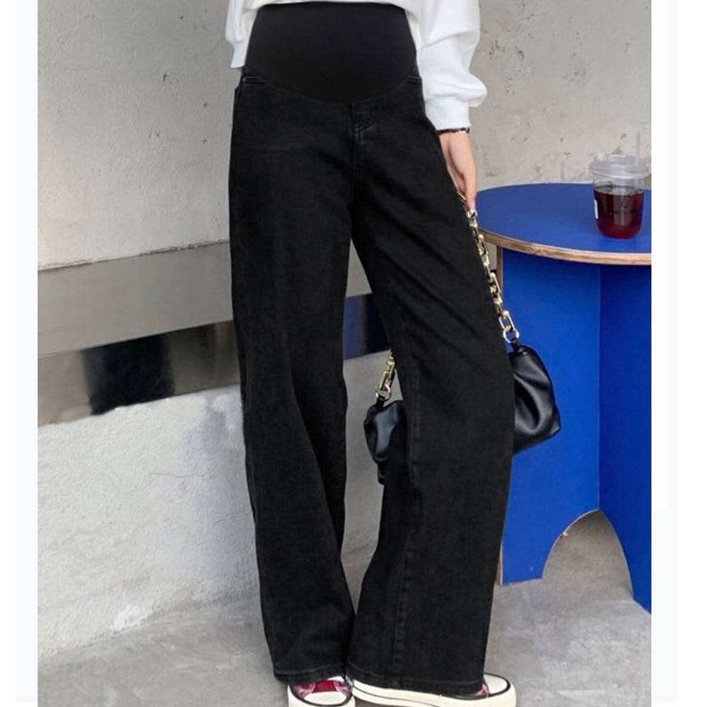 Denim Maternity Jeans Pants Pregnant Women Clothes Boyfriend Vintage wide leg Loose Straight Jeans Pregnancy Pants Plus size enlarge