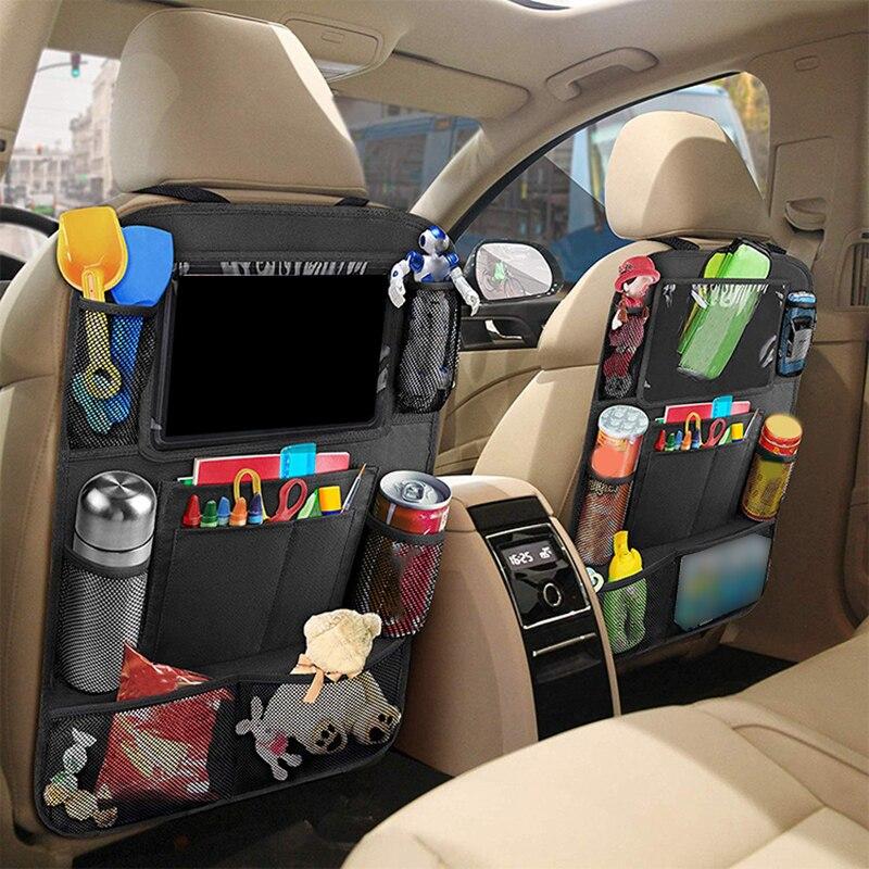 Car seat storage bag auto rear seat hanging bag Car Seat Back Organizer Multi-Pocket Storage Bag Tab