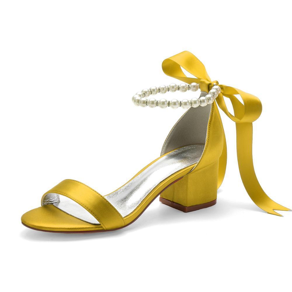 المرأة المفتوحة تو الحرير الكاحل حزام الدانتيل يصل الزفاف الصنادل العاج السيدات أحذية فستان الحفلات Sandalias