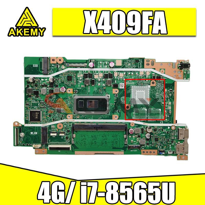 Akemy X409FA الكمبيوتر المحمول اللوحة الرئيسية ل vivobook X409 X409F X409FA X409FJ X409FL دفتر اللوحة اختبار موافق ث/4GB RAM i7-8565U وحدة المعالجة المركزية