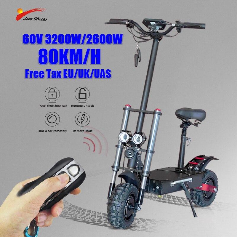 Jueshuai-patinete Eléctrico para adultos, Scooter con Motor de 3200W, batería de 110KM...