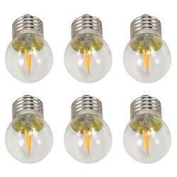 220v 2200k g40 conduziu as lâmpadas 2w do globo do filamento mini, iluminação decorativa ultra dos bulbos do diodo emissor de luz da base do parafuso, amarelo morno