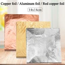 Imitation Gold Leaf Papier Gold Folie Blätter Vergoldung Kupfer Aluminium Blatt für Kunst Handwerk Vergoldeten Hause