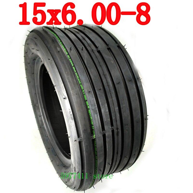 15 Polegada pneu de vácuo para harley scooter elétrico rodas dianteiras pneus traseiros 15x6.00-8 roda pneu sem câmara