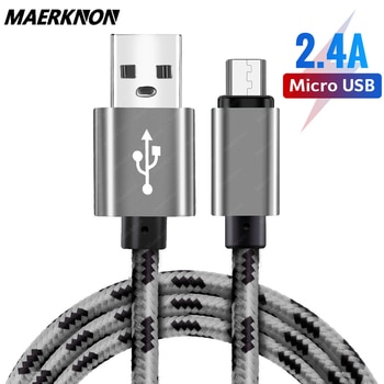 1m/2m/3m Braided Micro USB Cable Data Sync USB Charger Cable For Samsung S8 S7 HTC LG Huawei Xiaomi Android fast charging Cables