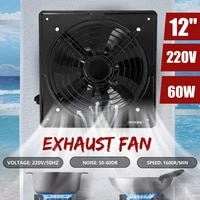 60w 10 12inch industrial ventilation extractor metal axial exhaust air blower fan high speed air extractor kitchen bedroom 220v
