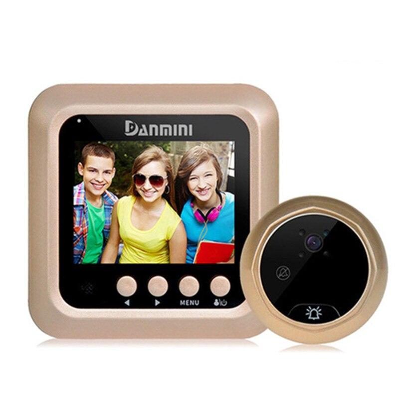 Smart Video Cat Eye 2.4Inch HD Intelligent Doorbell Home Infrared Night Vision Camera Snap Shot Electronic Door Mirror Multimode enlarge