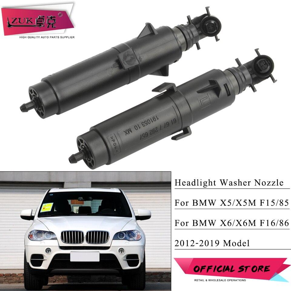 ZUK Para BMW X5 F15 X6 F16 X5M F85 X6M F86 2012-2019 Farol Washer Bico Farol Spray De Água Jet 61677292657 61677292658