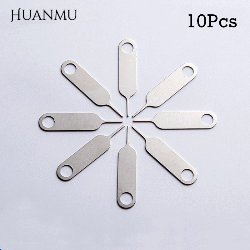 10PCS Sim Card Tray Ejector Eject Pin Key Removal Tool for iPhone iPad Samsung Galaxy for Huawei xia
