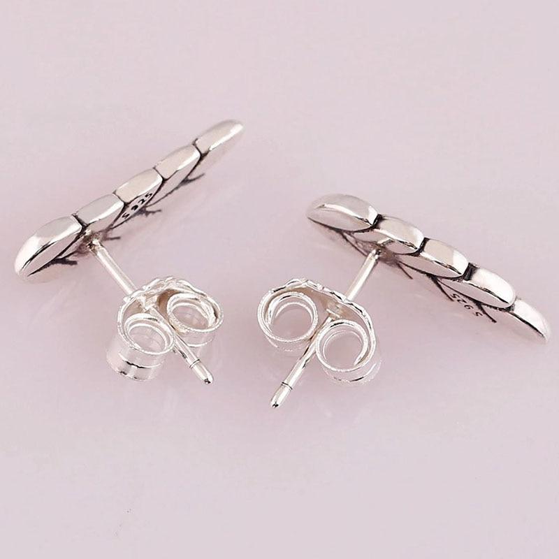 2020 New 925 Sterling Silver Pan Earringcurved Grain Earrings For Women Wedding Gift Fashion Jewelry