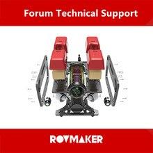 ROVMAKER 150M de profundidad Robot subacuático Kit de desarrollo ROV fuente abierta Robot subacuático edición Kit de Marco abierto