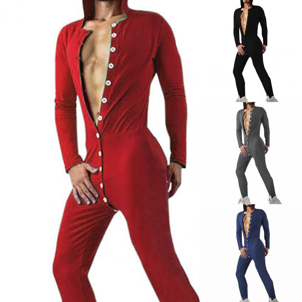 2021 новинка мода комбинезон длинный рукав благоприятный для кожи однотонный цвет мужские с капюшоном пижамы для дома