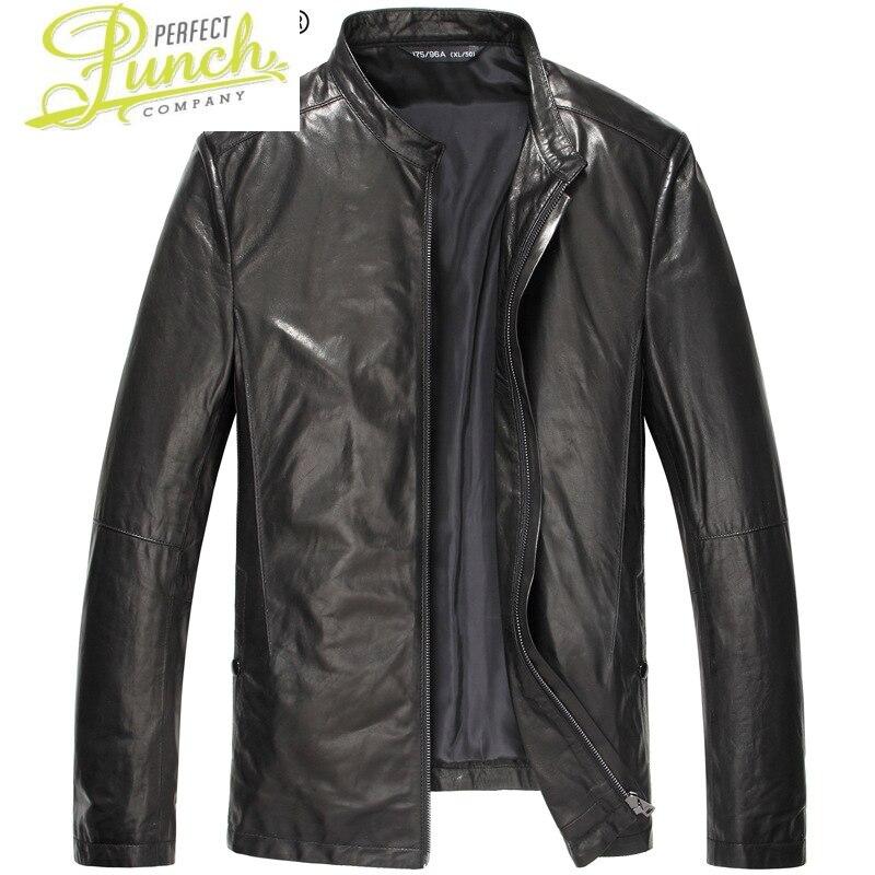 جلد طبيعي سترة الرجال قصيرة 100% جلد الغنم معطف خمر سليم سترات من الجلد Veste Cuir أوم 16S1420 KJ2429