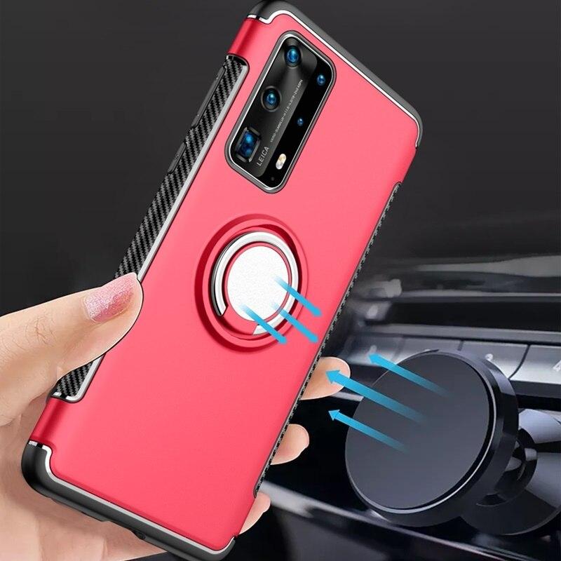 Чехол для Huawei P40 Pro P30 Pro P20 lite P10 P9 Plus P8 lite 2017, чехол с кольцом на палец, подставкой, магнитом, мягкий чехол для Huawei P40