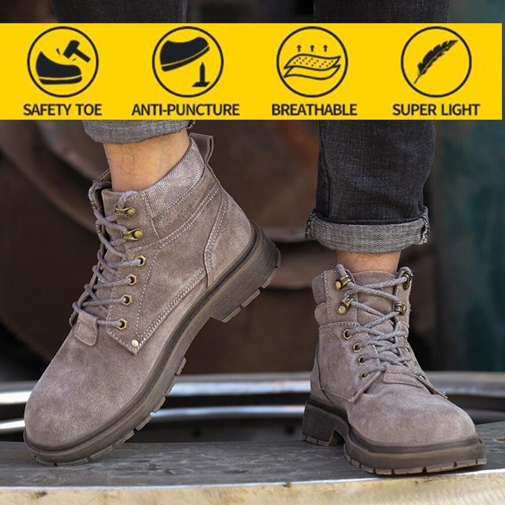 أحذية أمان الأمن أحذية عمل الرجال مكافحة تحطيم سلامة الصيف تنفس مزيل العرق عدم الانزلاق أحذية أمان رجالي