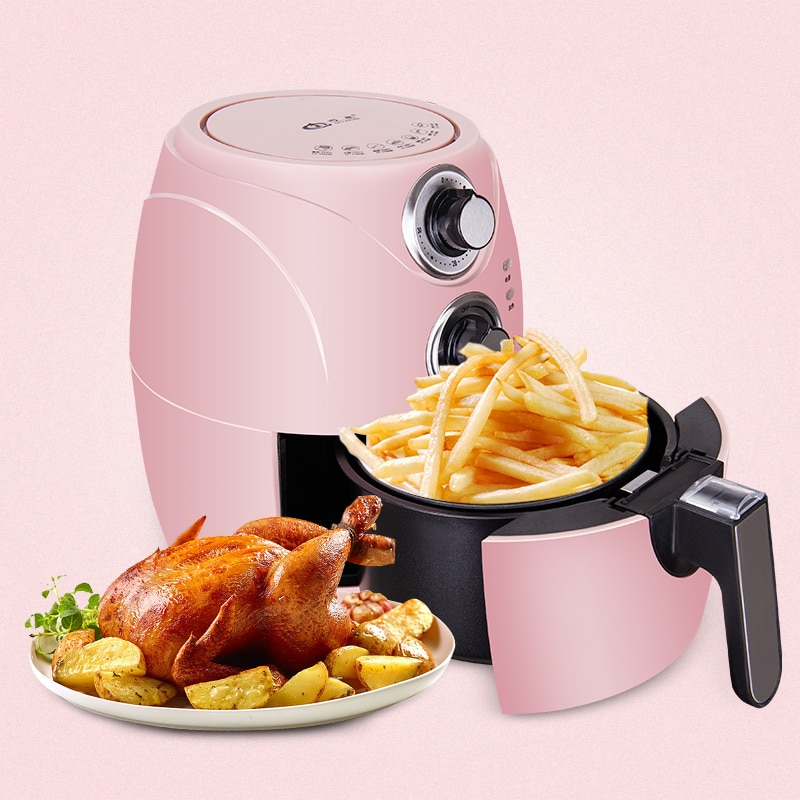 2.5 لتر الهواء المقلاة مقلاة كهربائية المنزل استخدام التلقائي بالكامل ذكي لا وقود جهاز قلي أصابع البطاطس