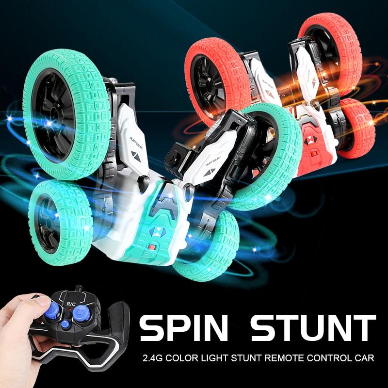 Spinning Stunt RC Car 360 Degree Flip 2.4G Double-sided Engine Drift Deformation Buggy Rock Crawler