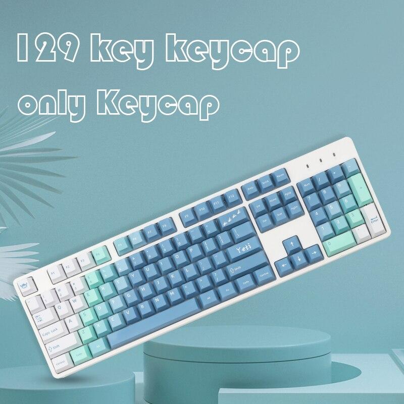 Keycaps Cherry Profile Dye Sub Keycap For Cherry MX Switch 61/64/68/87/96/980/104/108 Mechanical Keyboard