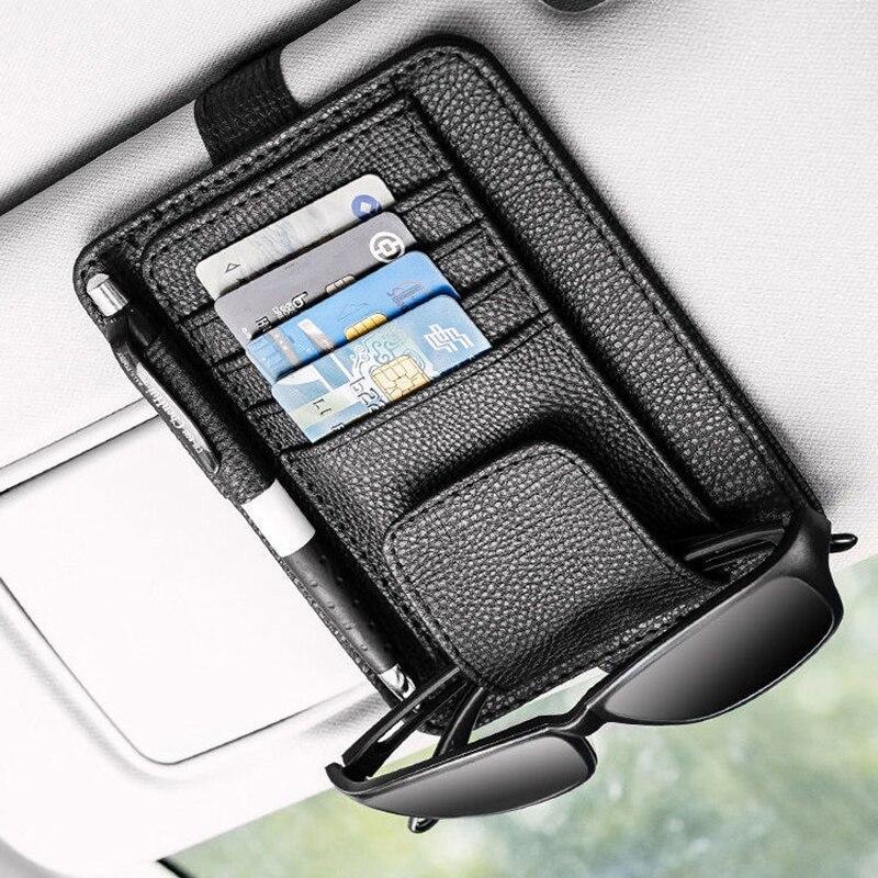 Автомобильный солнцезащитный козырек карты очки держатель для хранения автомобильные аксессуары интерьера voiture авто-Стайлинг солнцезащит...