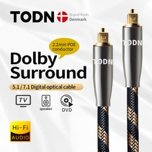 TODN Digital Optical Audio Toslink Cable Hi-end Fiber Optic Audio Cable for HIFI Video DVD TV DTS Do