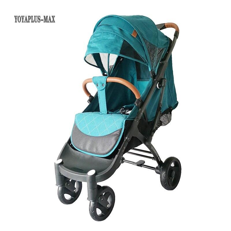 Детская коляска YOYAPLUS MAX, может сидеть, откидываться, с высоким ландшафтом, с полной крышей, расширенная и сильная амортизирующая детская коляска