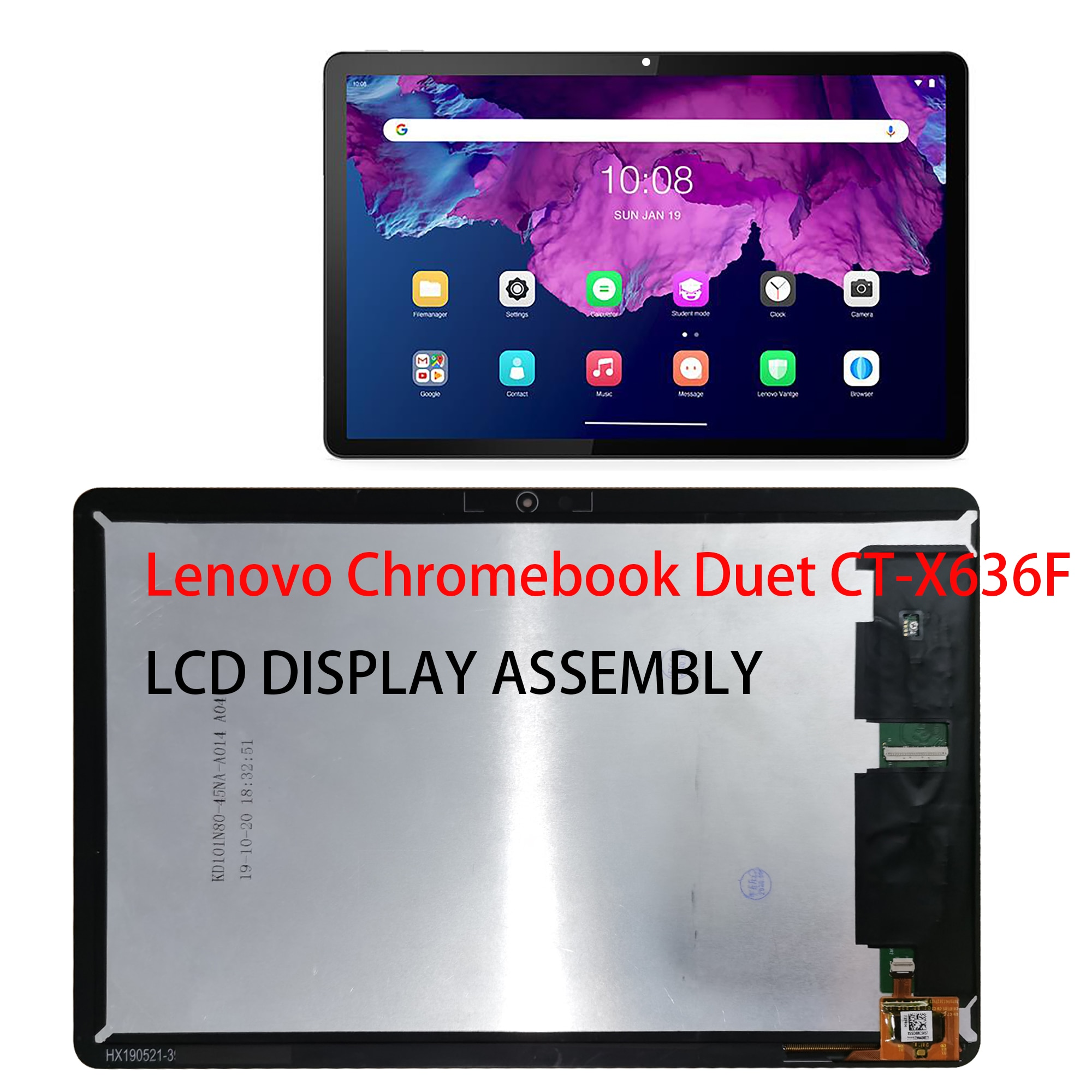 100% New Original Tablet LCD Display For Lenovo Chromebook Duet CT-X636F LCD Display Matrix with Touch Screen Digitizer