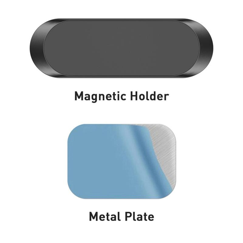 For Xiaomi Iphone Samsung Mobile Phone Holder I-shaped Magnet Car Bracket Magnetic Suction Navigatio