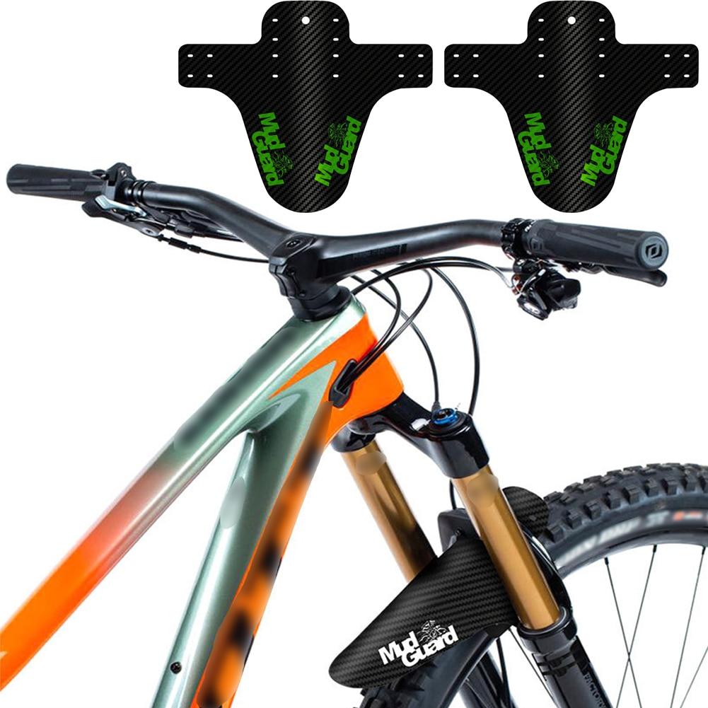 2Pcs Fine Bicycle Fenders Bike Mudguard Carbon Fiber Front /Rear MTB Mountain Bike Wings Mud Guard Cycling Accessories HOT