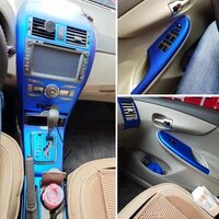 for toyota corolla 2007 2013 interior central control panel door handle 3d 5dcarbon fiber stickers decals car styling accessorie