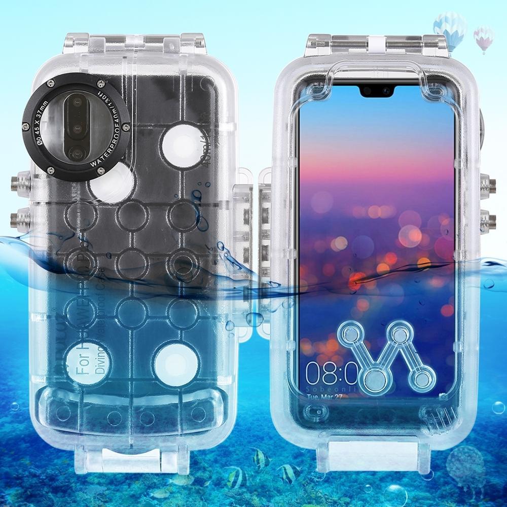 40 m/130ft submarina buceo teléfono funda protectora para Huawei P20/P20 Pro/Mate 20 Pro surf natación snorkel foto Video