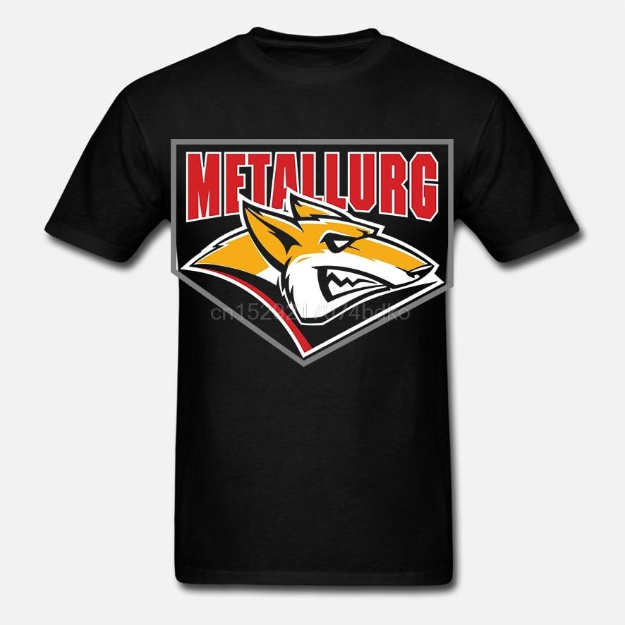 Metallurg Magnitogorsk Khl ruso profesional hockey área azul oscuro camiseta Jersey Simple Casual Camisa de manga corta Camiseta