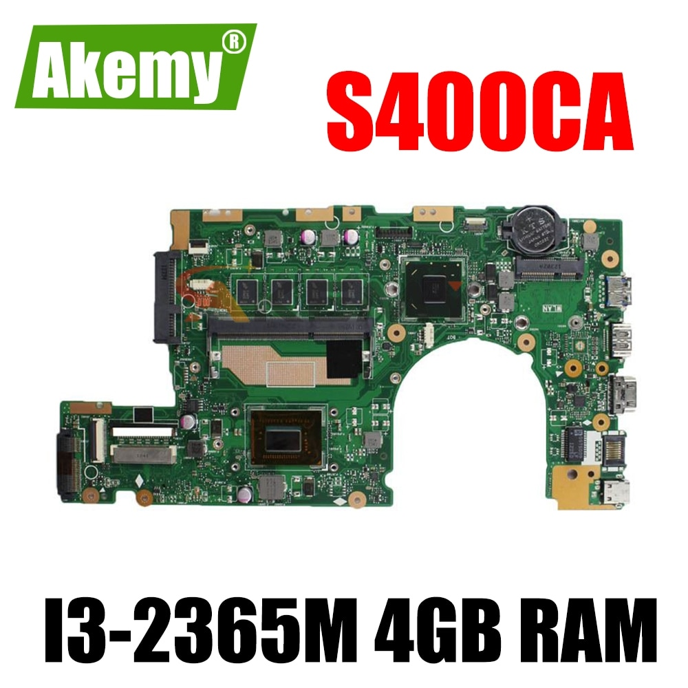 Akemy S400CA REV 2,1 3,1 материнская плата W/ I3-2365M 4 Гб Оперативная память для ASUS S400CA S400C ( 14 дюймов) Laotop материнская плата
