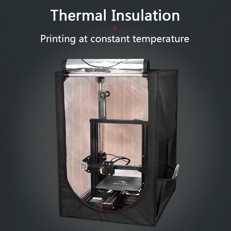 Portable 3D Printer Enclosure Protection Cover Fireproof Heat Preservation 3D Parts for Ender-3 Series Ender 5 CR-10 enlarge