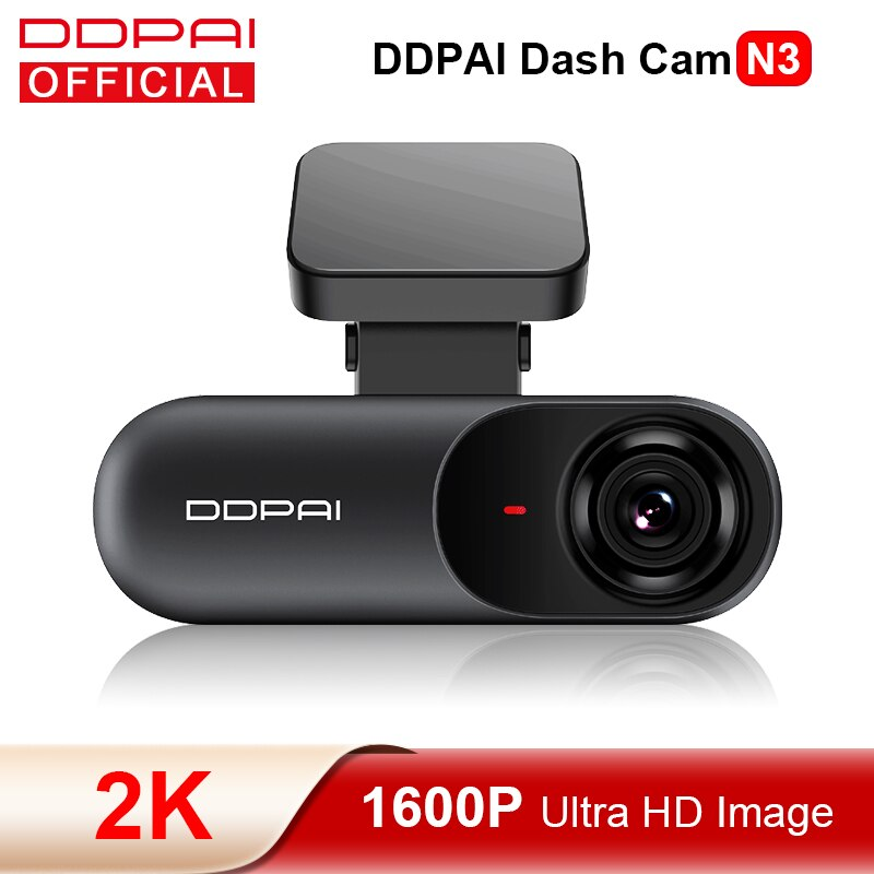 DDPAI Dash Cam Mola N3 1600P HD GPS Vehicle Drive Auto Video DVR Android Wifi Smart 2K Car Camera Hidden Recorder 24H Parking