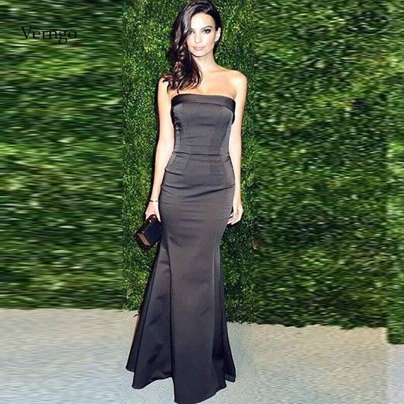 فستان سهرة حورية البحر ، طويل ، مثير ، أسود ، أنيق