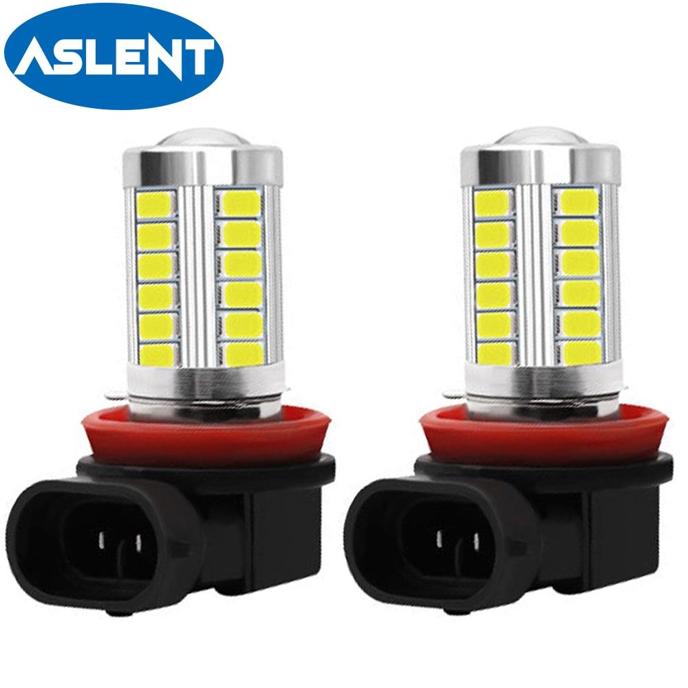 Phare anti-brouillard de conduite H8 H11 ampoule LED HB4 9006 HB3 9005, phare arrière de voiture et parking 12V 5630 K, blanc, 2 pièces