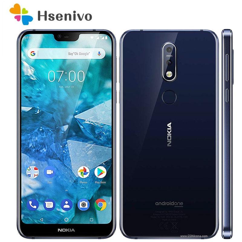 Nokia 7,1 Восстановленный Оригинальный разблокированный Восьмиядерный 5,84 дюймов 3 ГБ ОЗУ 32 Гб ПЗУ 12 МП LTE одна SIM-карта Android смартфон