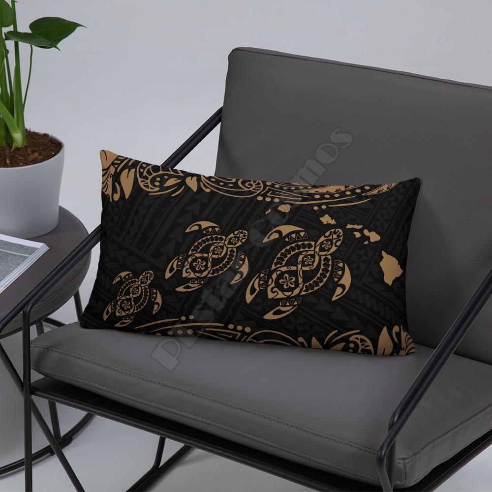 Hawaii Polynesian Basic Pillow Green Sea Turtle Pillowcases Throw Pillow Cover Home Decoration