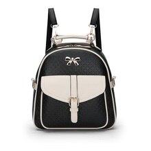 Mode tendance dames sac à dos de haute qualité en cuir PU arc dames sac à dos décontracté Simple en plein air voyage sac fille vérifier sacs à dos